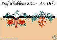 Wandschable, Wandschablonen, Malerschablone,Stupfschablone, Blumenranke um 1900