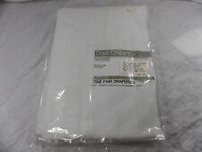 Cool White 48x84 Elegance Draw Drapery Set New Old Stock