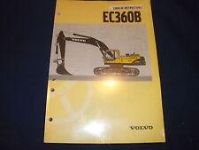 VOLVO EC360B EXCAVATOR OPERATION & MAINTENANCE MANUAL BOOK IN SPANISH NEW