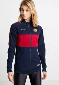 Nike FC Barcelona Women's Jacket Small Obsidian Noble Red Gold RRP£100