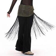Belly Dance Hip Scarf  Sequins Long Tassel Belly Dance Belt Costume  Wrap