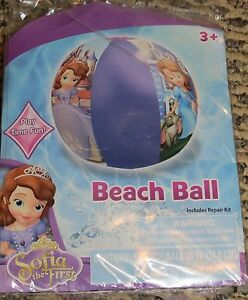 Disney Sofia The First Inflatable Beach Ball Ages 3+ NEW