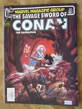 MARVEL COMICS MAGAZINE THE SAVAGE SWORD OF CONAN #91 FINE (B42)