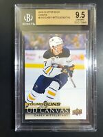2018-19 Upper Deck Casey Mittelstadt Young Guns Canvas Rookie BGS 9.5