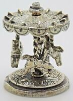 Vintage Solid Silver Italian Made Carousel Figurine Stamped Miniature