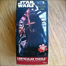 Disney STAR WARS Kylo Ren LENTICULAR PUZZLE The Force Awakens 100PC 9 x 12 inch