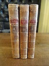 Oeuvres de Boileau Despréaux 1793 3 volumes Reliure