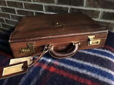 VINTAGE 1980's SWISS BALLY BELTING LEATHER HARDSIDE MACBOOK BRIEFCASE BAG R$1498