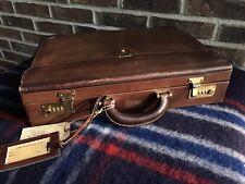 VINTAGE 1980's BROWN SWISS BALLY BELTING LEATHER HARDSIDE BRIEFCASE BAG R$1498