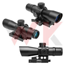Tactical 3-9X42 Rifle Scope P4 Sniper Reticle Illuminated Sight BDC Weaver Mount