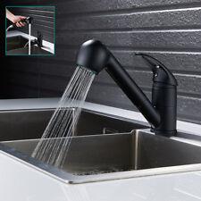 Évier de cuisine robinet retirer rinceur mono mitigeur pivotant bec moderne noir