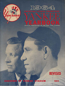 1964 New York Yankees Baseball Official Yearbook - Revised Edition June 12