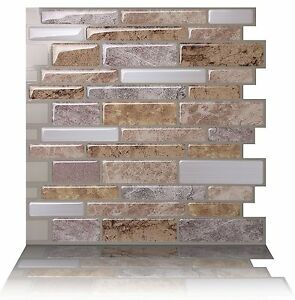 Tic Tac Tiles_3D Peel and Stick Wall Tile_Polito Fresco(5 sheets x 25cm x 25cm)