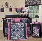 Baby Boutique - Rose Damask - 13 pcs Crib Nursery Bedding