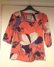 Esprit Top 3/4 Sleeve Floral Square Neck UK 12 BNWOT