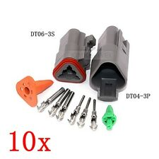 10x Deutsch DT04-3P/DT06-3S Sealed Waterproof Electrical Connector Plug Kits New