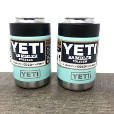 YETI Rambler Colster Stainless Steel Seafoam - Brand New - Set Of 2