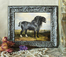 Wolstenholme Shire Draft Horse Print Antique Style Framed 11X13 Pony