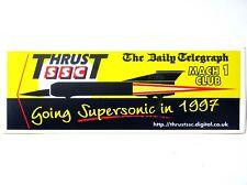 Land Speed Record: Thrust SSC Daily Telegraph / Mach 1 Club 'Supersonic' Sticker