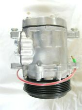NEW Semi Polished Mini SD7 Serpentine Air Conditioning AC Compressor
