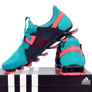 Adidas Spring Blade Running Shoes Sport Sneakers Ladies Children Turquoise Green