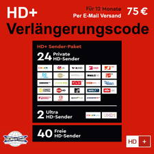 HD+ Verlängerung für alle HD Plus Karten HD01/02/03/04/05 - Laufzeit 12 Monate