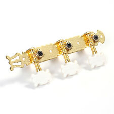 1 Pair Gold Classic Guitar 3+3 Tuner Machine Head Keys String Tuning Pegs Flower