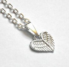Eye-Catching ANGEL Wings HEART Pendant Necklace Child/Adult