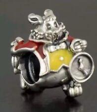 Auténtica plata esterlina Disney Alice El Encanto Conejo Blanco