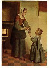 Alte Kunstpostkarte - Pieter de Hooch - Die Vorratskammer