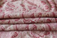 """Antique 19thC Cotton Bandana Paisley Fabric c1880~Quilters,Sewing~L-32""""X W-32"""""""
