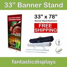 """Generic Roll Up Banner Stand for 33"""" x 79"""" Trade Show Banners"""