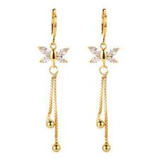 Women Multi-color Marquise CZ Cubic Zirconia Tassel Long Drop Earrings Jewelry