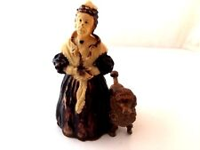 ANCIENNE FIGURINE DAME ET CANICHE vintage poodle & woman french figurine