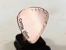 Carpe Diem hammered copper guitar pick