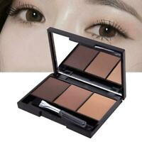 Makeup Natural Eyebrow Powder Palette Eye Shadow Kit Beauty Cosmetic Brush P0F3