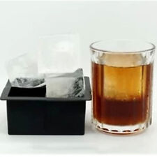Black Big Giant Jumbo King Size Large Silicone Ice Cube Square Tray Mold Mould