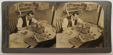 Keystone Stereoview Copying Design to Print on Cotton Cloth 1920's # 26167 (35)