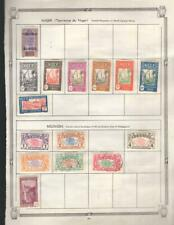 1¢ WONDER ~ FRENCH COLONNIES M&U SMALL LOT ON PAGES ALL SHOWN ~ K951