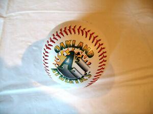 Oakland A's Fotoball Fire Logo #101 No Pepper Play Mint Baseball Ball
