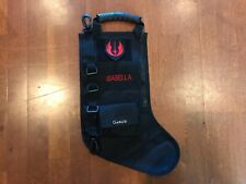 "New Personalized ""ISABELLA"" Star Wars CHRISTMAS STOCKING Black Jedi Order Patch"