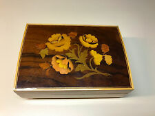 Old Vtg Wood Ballerina Original Deichert Music Musical Jewelry Box West Germany