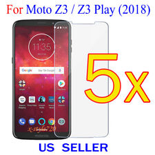 5x Clear Screen Protector Guard Cover Film For Motorola Moto Z3 Play / Z3 (2018)