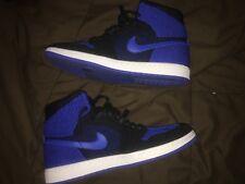 Nike Air Jordan Retro 1 Flyknit Black Royal Blue Size 12