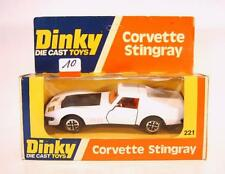 DINKY TOYS 221 Corvette Stingray blanc dans O-Box #010
