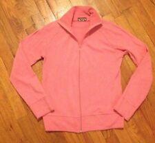 Topshop Pink Zip Up Sporty Track Jacket Size Medium