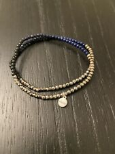 Blue Beads Pretty Excellent Condition Stella And Dot Bracelet Set Silver