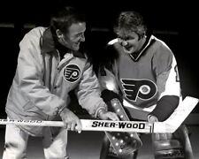 Jaques Plante with Bernie Parent Philadelphia Flyers 8x10 Photo