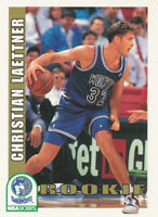 Christian Laettner 1992-93 NBA Hoops #421 Timberwolves RC Rookie Card