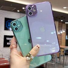 Para iPhone 12 Pro Max 11 XS XR 8 7 más claro Chapado a Prueba de Choques TPU Estuche Cubierta